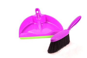 Dustpan and violet brush