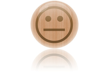 "Bulle de bois ""smiley"""