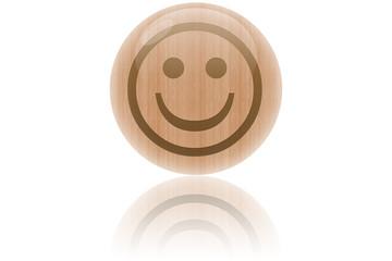 """Bulle de bois """"smiley content"""""""