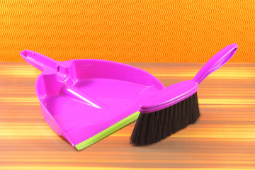 Brush and Dustpan violet