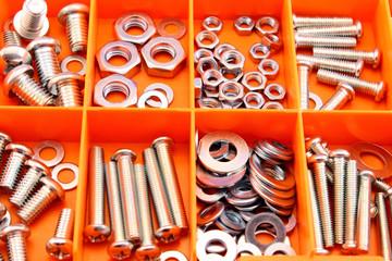 Screws in tool box