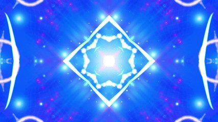 Blue abstract kaleidoscopic looping animated background