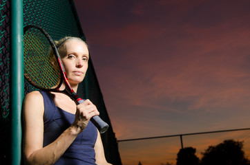 Female tennis portrait