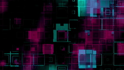 Squares Looping Abstract Multicolor Animated Background