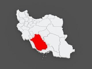 Map of Farce. Iran.