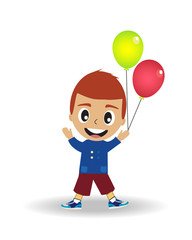 The boy and balloons