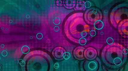 Retro Multicolor Shapes Looping Animated Background