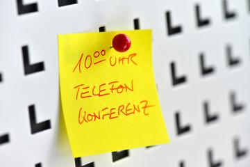 Telefonkonferenz, Call, Telko, Pinnwand, Notiz, Projekt, Termin