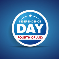 Vector independence day badge