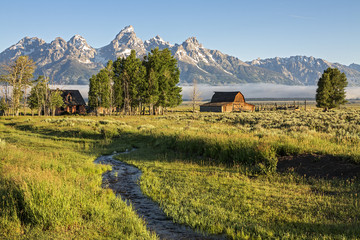 Morning at Moulton Barn in the Grand Teton National Park, WY