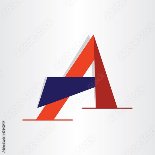 abstract character letter a typography