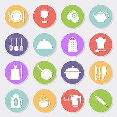 set of kitchen tools icons