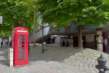 British phone booth near Hundertwasser House, Vienna