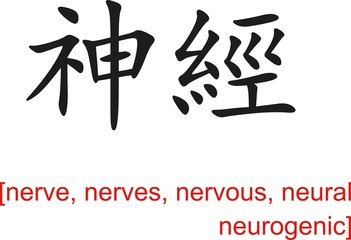 Chinese Sign for nerve, nerves, nervous, neural neurogenic