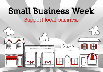 Small Business Week, Main Street USA local shops and stores