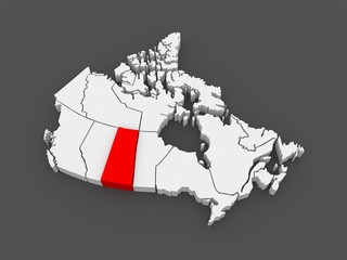 Map of Saskatchewan. Canada.