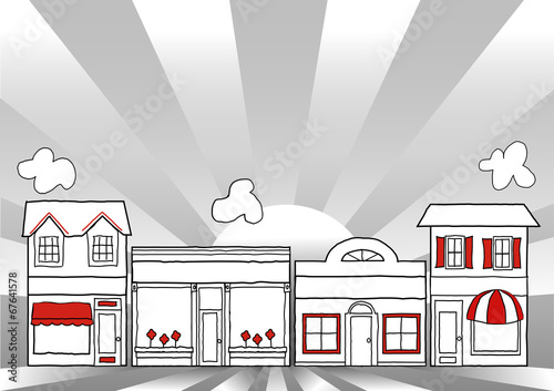 Main Street America, local community shops, stores - 67641578