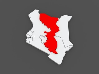 Map of East. Kenya.