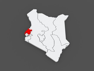 Map of West. Kenya.