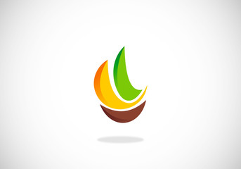 fresh fruit abstract logo