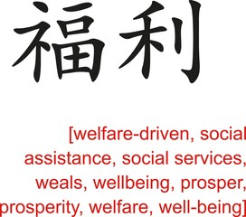 Chinese Sign for welfare-driven, social services, wellbeing