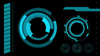screen hologram interface graphics, abstract background