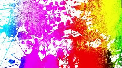 rainbow ink splatter