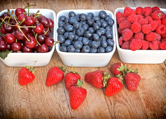 Organic berry fruits