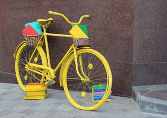 Yellow book bicycle
