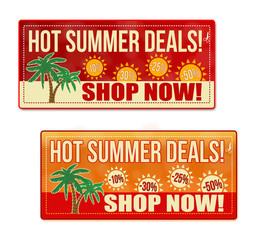 Hot summer deals coupon, voucher, tag