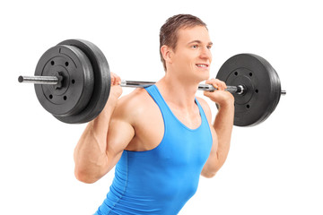 Man lifting a heavy weight