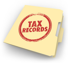 Tax Records Manila Folder Stamp Audit Documents FIle