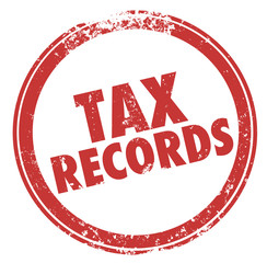 Tax Records Words Stamp Audit Red Round Circle