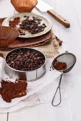 Choc chips and cocoa powder