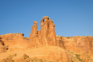 Three Gossips in the Arches National Park; Utah; USA