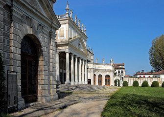 View of the old monumental stable of Villa Pisani, Italy