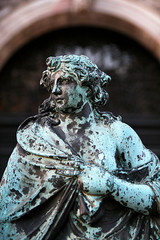 Statue in the gate of the bell tower, St. Mark's Square, Venice