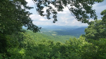 North Carolina Countryside and Appalachian mountains