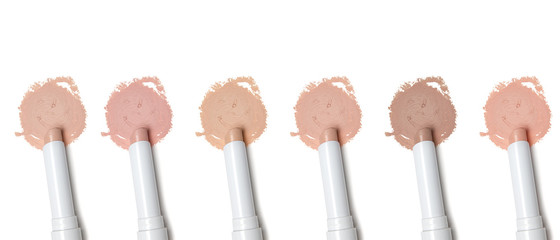 Different tones of concealer