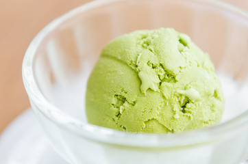 Ice cream green tea