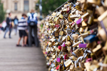 Locks of Pont Des Arts in Paris, France - Love Bridge
