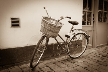 Classic vintage retro city bicycle