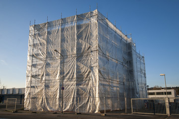 scaffold construction site