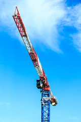 Tower crane with blue sky