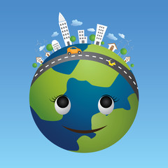 vector of globe eco concept.