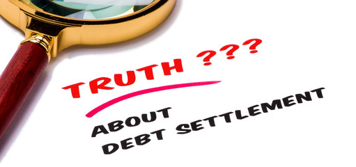 truth about debt settlement concept