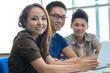Cheerful students