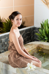 In spa salon