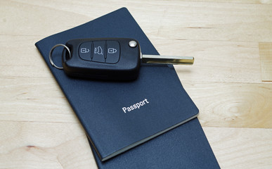 passport and car key