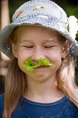 funny vegetarian girl
